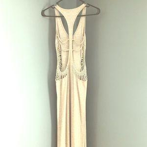 Boho Macrame Backless Maxi Dress